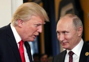 Trump and Putin at a 2017 summit in Vietnam.