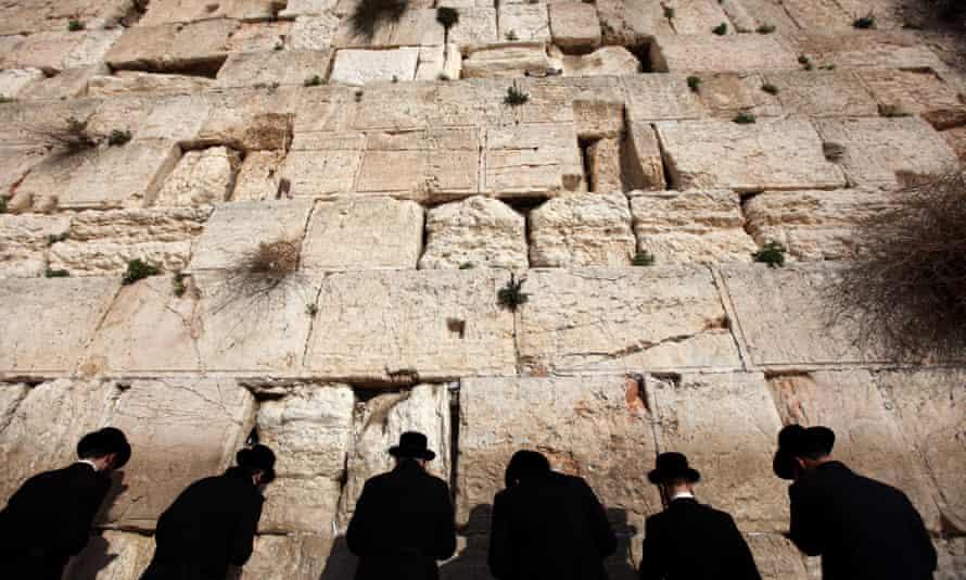 Ultra-Orthodox Jews pray at the Western Wall, Judaism's holiest site, in Jerusalem.