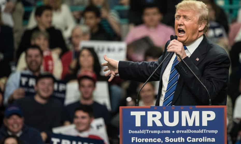 Donald Trump takes his anti-Muslim message to South Carolina at a campaign rally in Florence, South Carolina, on 5 February.