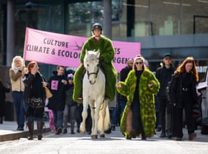 Hoofing it … a horse-led Culture Declares Emergency procession in London in April 2019.