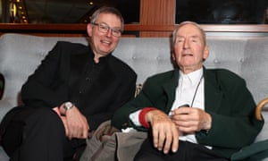 Roger Mainwood, left, and Raymond Briggs. Mainwood made his directorial feature film debut in 2016, with an adaptation of Briggs's 1998 autobiographical book Ethel & Ernest.