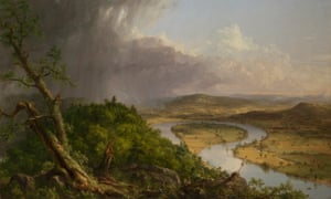 Thomas Cole's View from Mount Holyoke, Northampton, Massachusetts, after a Thunderstorm – The Oxbow, 1836 (detail; full image below).