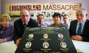 Campaigners for justice for the Loughinisland killings before the ombudsman's report was published.
