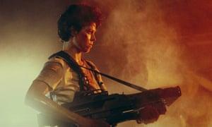 Sigourney Weaver in Aliens.