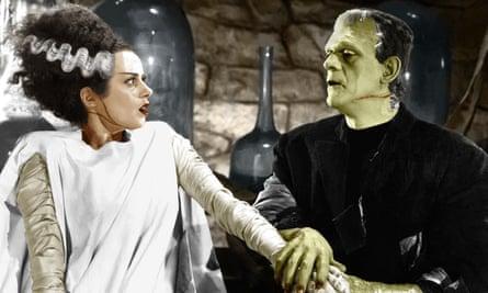 Elsa Lanchester and Boris Karloff in the 1935 film Bride of Frankenstein.