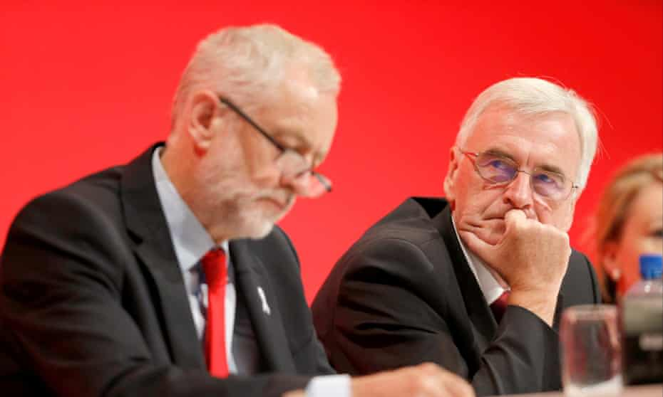 Jeremy Corbyn and John McDonnell at the Labour conference