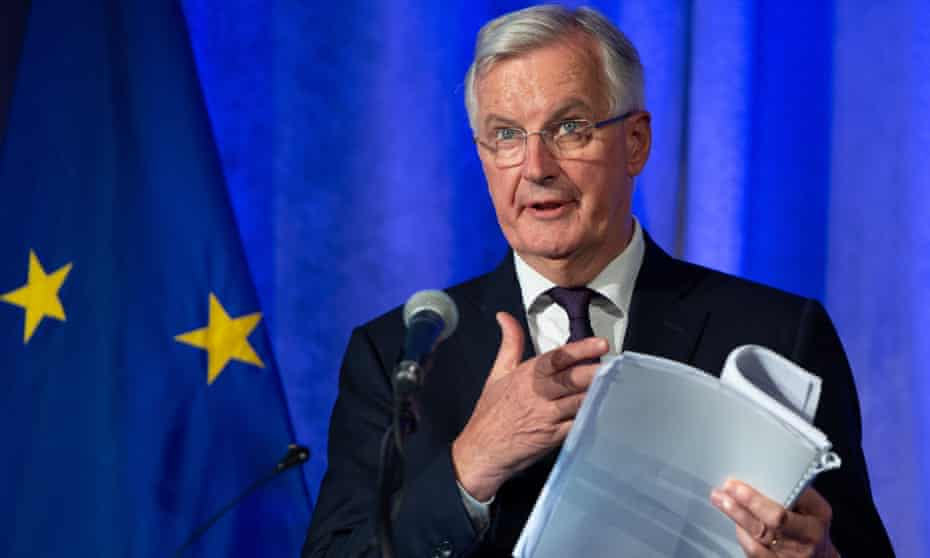 Michel Barnier speaks about the Brexit trade negotiations.
