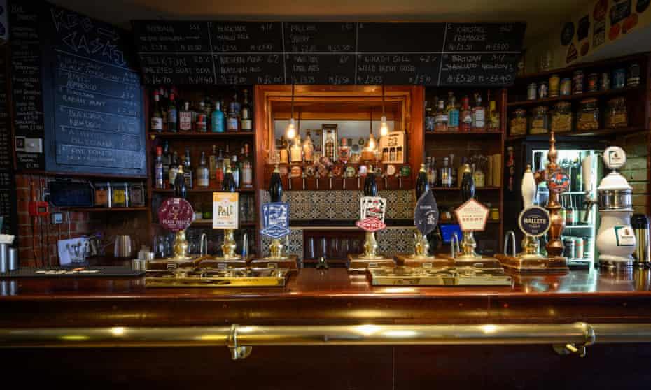The bar at Smithfield Tavern, Manchester, UK.