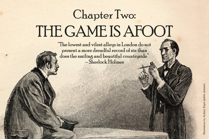 What chapter in the sign of four did sherlock meet a man with information in london?