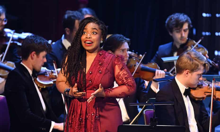 Francesca Chiejina, soloist for Berg's Seven Early Songs with Sinfonia of London Prom conducted by John Wilson at the Royal Albert Hall.