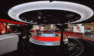 Sophie Raworth in the BBC News Channel studio.