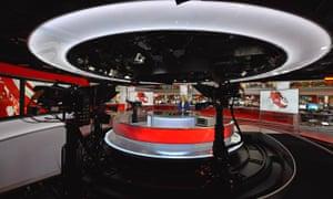 BBC newsroom studio at Broadcasting House