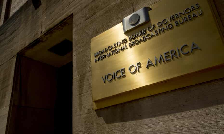 The Voice of America building in Washington. Since taking his new role in June, Pack has conducted a purge on senior journalists and refused to renew the visas of foreign reporters.