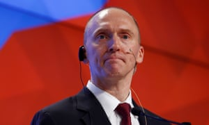 Page quit the Trump campaign amid controversy over a July 2016 visit to Moscow. He has been under investigation over alleged connections with Russian officials.