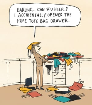 Berger & Wyse on tote bags – cartoon