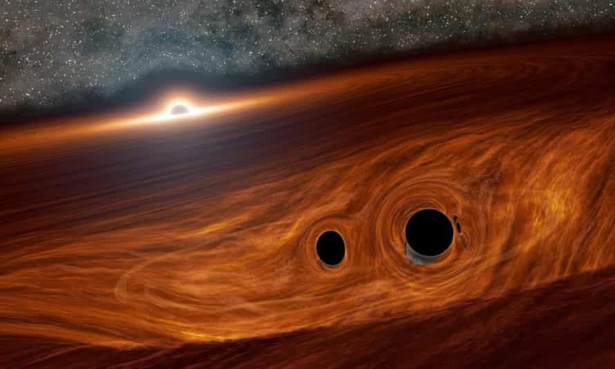 An artist's impression of a supermassive black hole