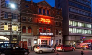 The Royal Court theatre in London. Abhishek Majumdar claimed his play Pah-la was shelved because of fears over an arts programme in Beijing.