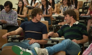 'Have you ever tried yoga?': Blake Jenner, left, and Temple Baker in Everybody Wants Some!!