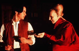 Secret love ... Keanu Reeves, with Gary Oldman in Bram Stoker's Dracula. Photograph: Zoetrope/Columbia Tri-Star/Kobal/Rex/Shutterstock