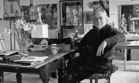 Don McKinlay in his studio