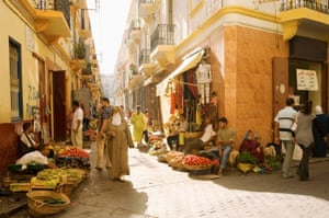 Streets in the old centre of Tangier.