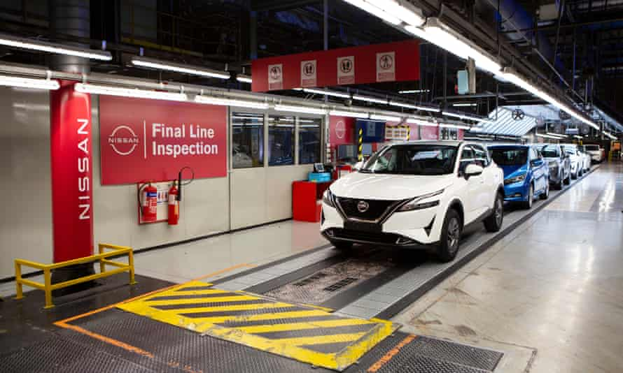 The production line at Nissan Sunderland
