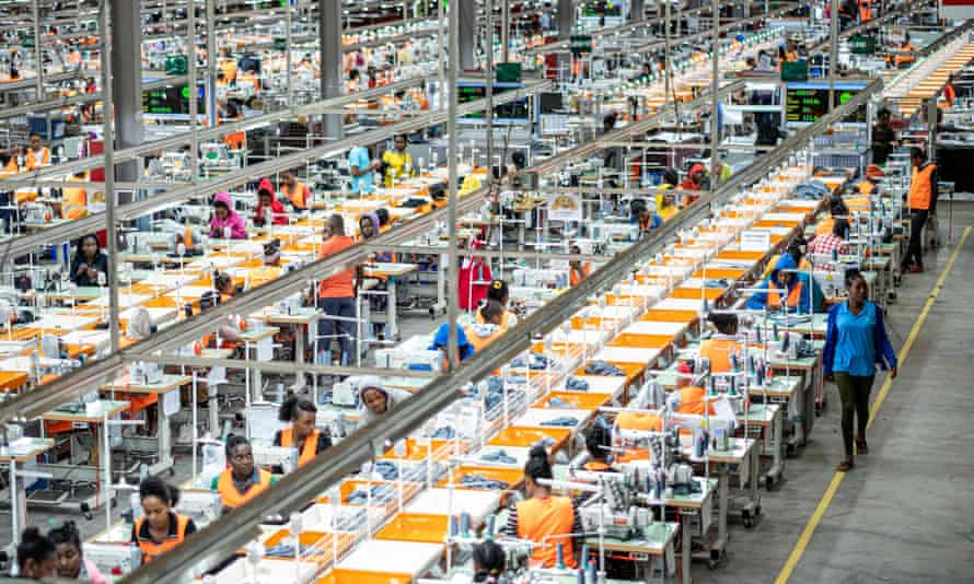View of a garment factory at the Hawassa Industrial Park in Hawassa, southern Ethiopi