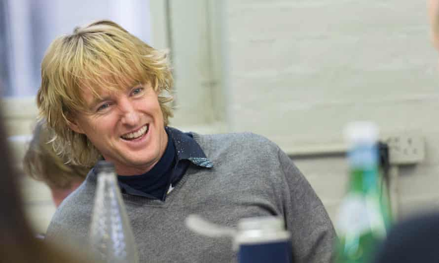 Co-star Owen Wilson at a read-through for Lost in London.