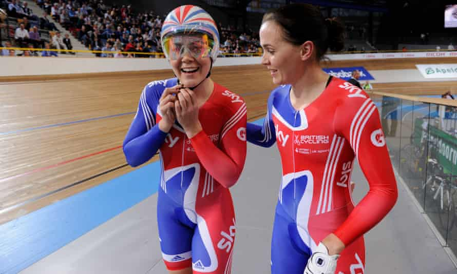 Varnish, left, has been supported by Victoria Pendleton.