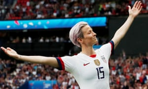 Megan Rapinoe of the USA celebrates a goal at this year's World Cup.