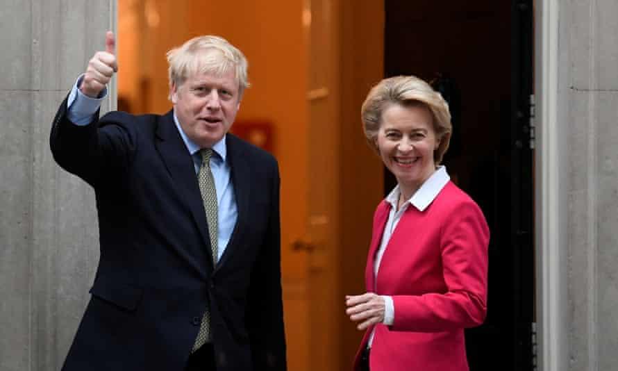 Boris Johnson meets Ursula von der Leyen, president of the European Commission, in London last year.