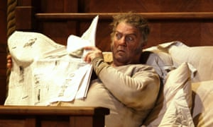 Sir Bryn Terfel as Sir John Falstaff in the Royal Opera House's current production of the Verdi comedy.