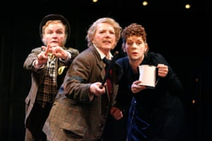 Joanne Howarth as Fabian, Marjorie Yates as Sir Toby Belch and Siobhan Redmond as Maria in Twelfth Night at the RSC directed by Neil Bartlett, 2007.