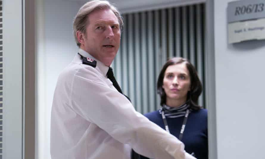 The best cop on TV: Adrian Dunbar as Superintendent Ted Hastings, with Vicky McClure as Detective Sergeant Kate Fleming.