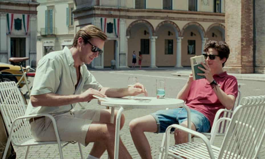 Reaches out to anyone with a pulse ... Armie Hammer and Timothée Chalamet in Call Me By Your Name.