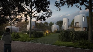 Designers have described the style of the first set of homes being built by Van Wijnen as 'erratic blocks in the green landscape'.