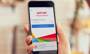 Just Eat's mobile phone app