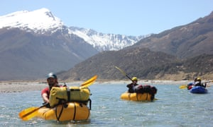 Packrafting down the Rees river, on New Zealand's South Island