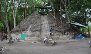 The excavation site at Xunantunich.