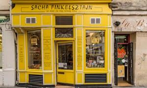 Sacha Finkelsztajn in Paris's Marais neighbourhood.