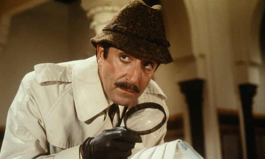 Peter Sellers as chief inspector Jacques Clouseau in the 1968 film The Pink Panther Strikes Again.