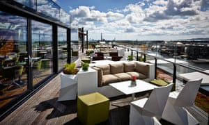 The Marker Hotel, Dublin, rooftop bar and terrace
