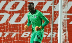 Edouard Mendy of Chelsea delighted with late save