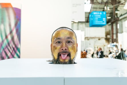 Artist Can Xin performs at Sydney Contemporary.