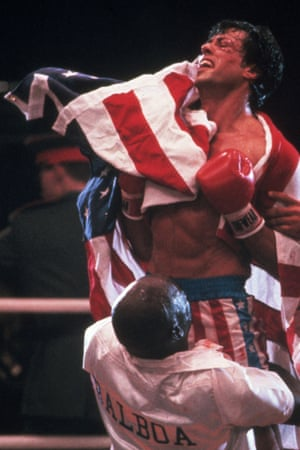 Rocky with american flag