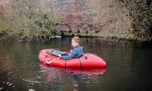 Alys Fowler kayaking on a canal
