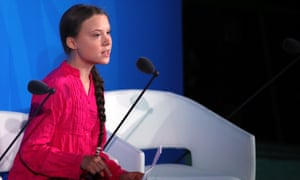 World Leaders Gather For United Nations Climate Summit<br>NEW YORK, NEW YORK - SEPTEMBER 23: Greta Thunberg speaks at the United Nations (U.N.) where world leaders are holding a summit on climate change on September 23, 2019 in New York City. While the U.S. will not be participating, China and about 70 other countries are expected to make announcements concerning climate change. The summit at the U.N. comes after a worldwide Youth Climate Strike on Friday, which saw millions of young people around the world demanding action to address the climate crisis. (Photo by Spencer Platt/Getty Images)