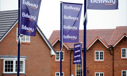 Newly built homes at a Bellway Homes development