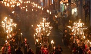 Bonfire Night festivities in Lewes