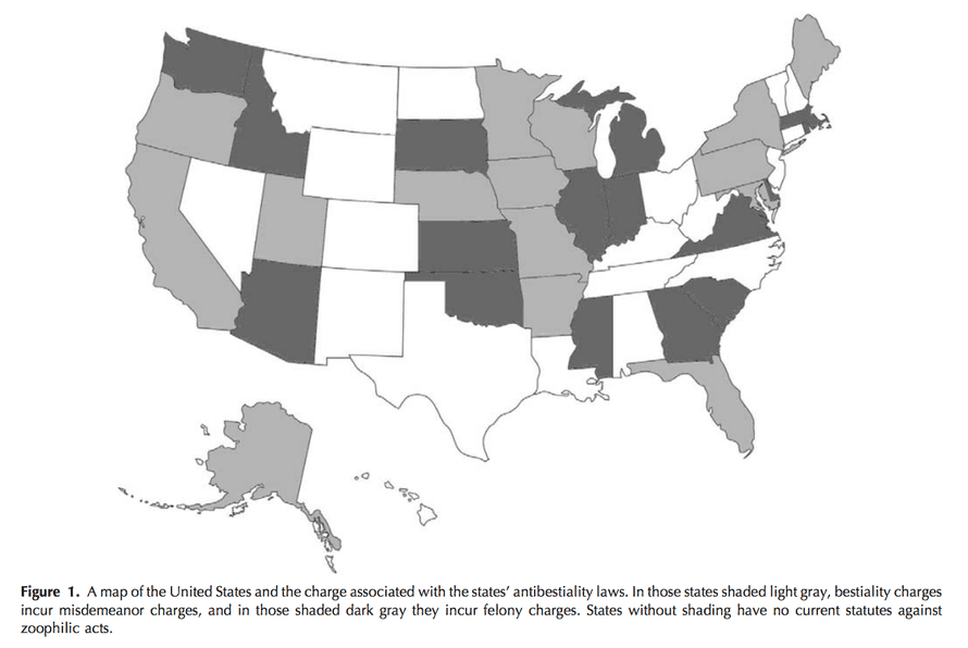 States with anti-bestiality laws.